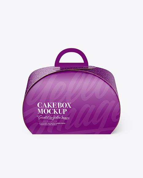 Download Paper Cake Box PSD Mockup