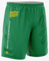 Men's Soccer Shorts Mockup - Front Half-Side View