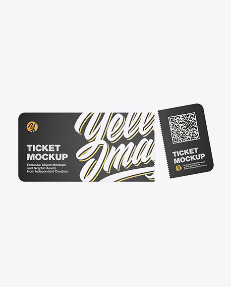 Download Paper Ticket PSD Mockup