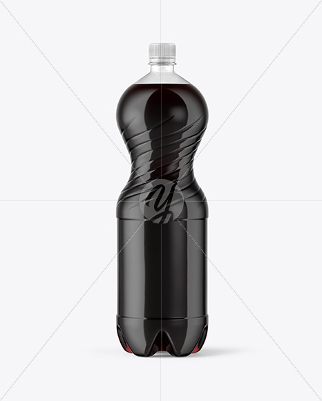 2L PET Bottle With Cola Mockup