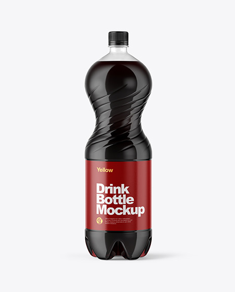 Download 2L PET Bottle With Cola PSD Mockup