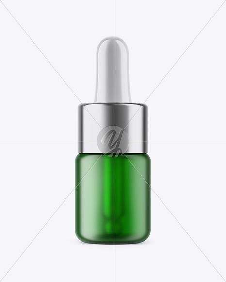 5ml Frosted Green Glass Dropper Bottle