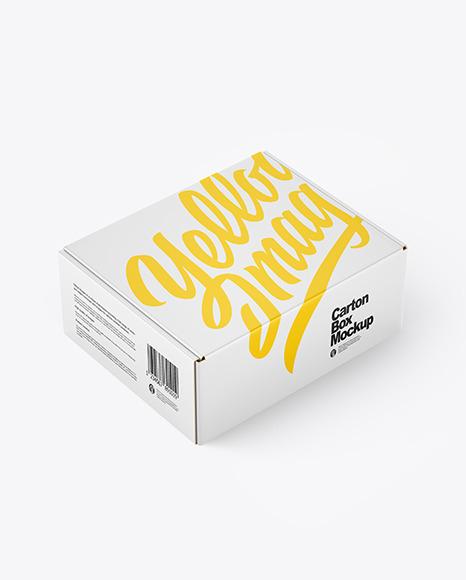 Download Paper Box PSD Mockup