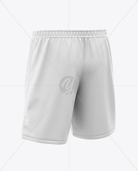 Men's Soccer Shorts Mockup - Back Half-Side View
