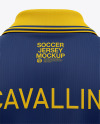 Men's Soccer /Cricket Jersey Mockup - Back View