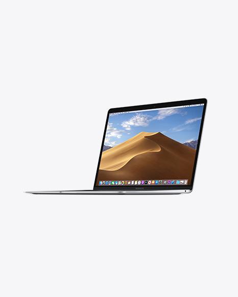 Download Silver MacBook Air PSD Mockup