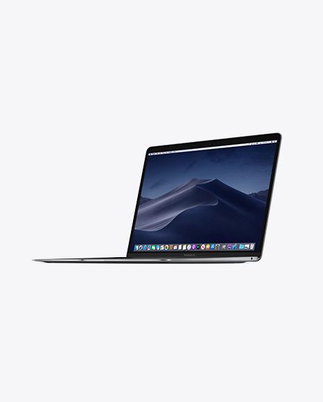 Download Space Gray MacBook Air PSD Mockup
