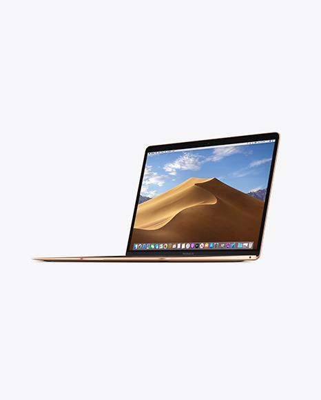 Download Gold MacBook Air PSD Mockup