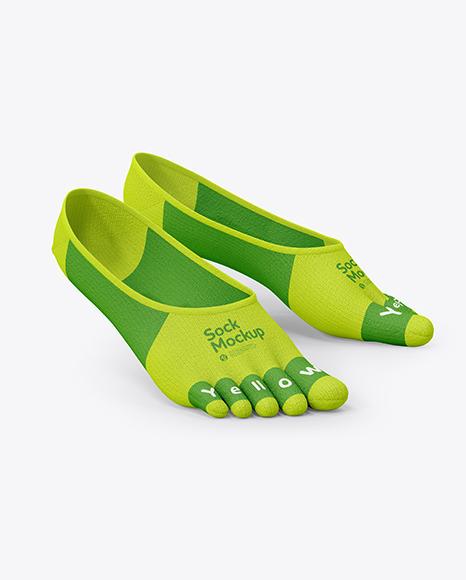 Download Noshow Toe Socks PSD Mockup