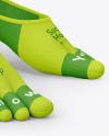 No-show Toe Socks Mockup
