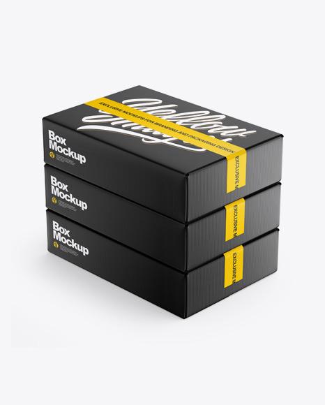 Download Matte Boxes PSD Mockup