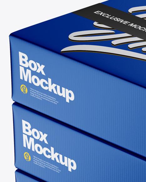 Metallic Boxes Mockup