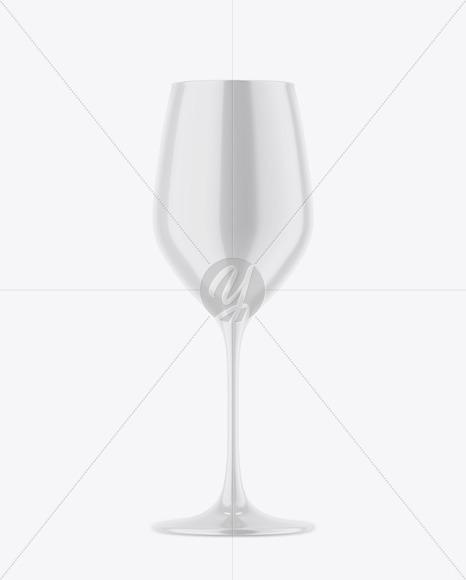 Glossy Wine Glass Mockup