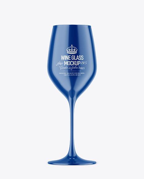 Download Glossy Wine Glass PSD Mockup