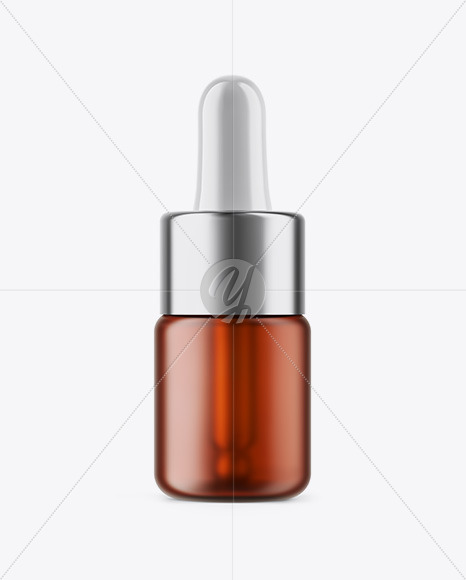 5ml Frosted Amber Glass Dropper Bottle