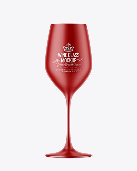 Download Matte Wine Glass PSD Mockup