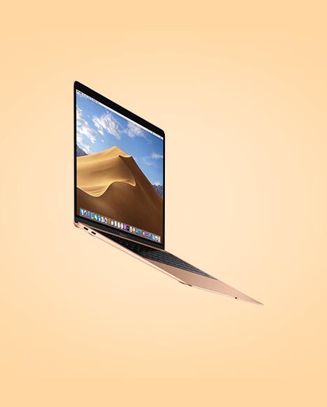 Gold MacBook Air Mockup