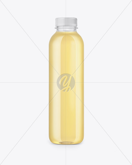 Clear Bottle with Grape Juice Mockup