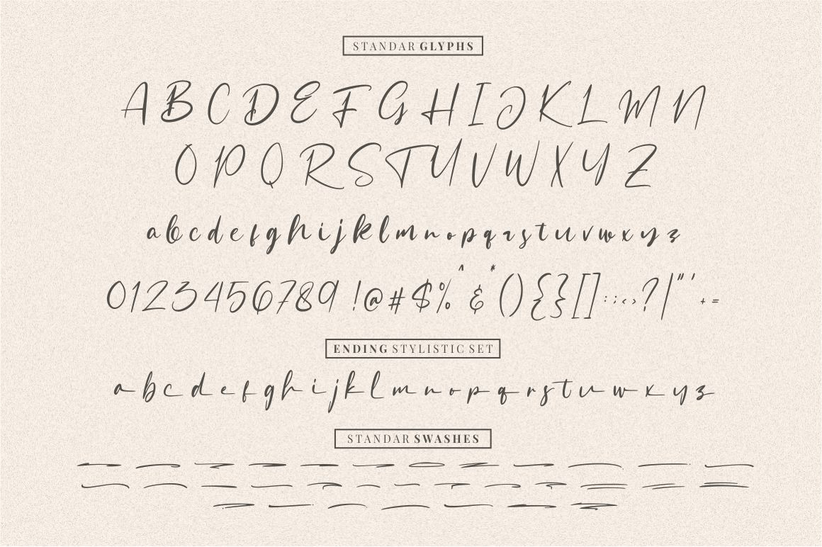 Sattersoon - Handwritten Font