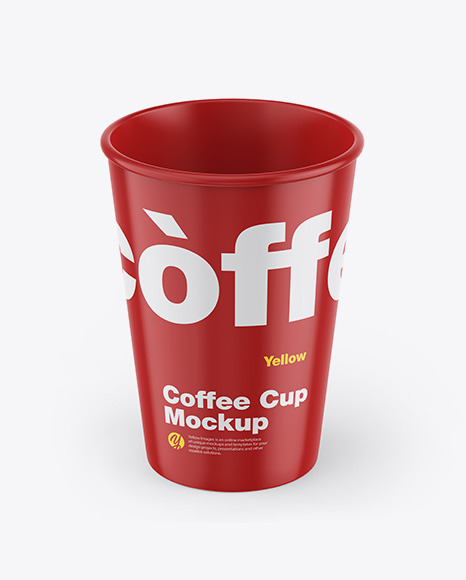 Download Glossy Coffee Cup PSD Mockup