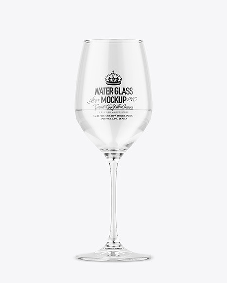 Download Clear Wine Glass PSD Mockup