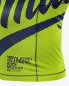 Men's Long Sleeve Jersey on Athletic Body Mockup