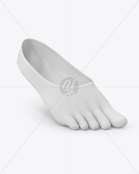 No-show Toe Sock Mockup