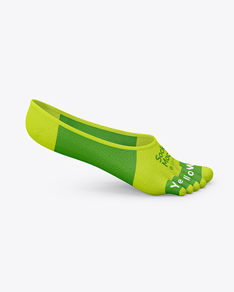 No-show Toe Socks Mockup
