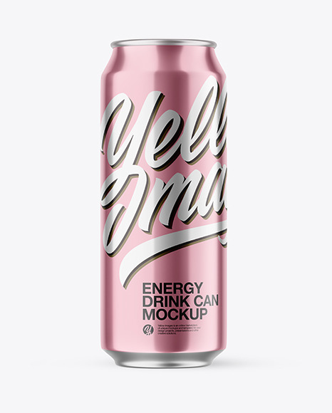 Download Metallic Drink Can PSD Mockup