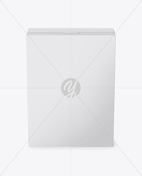 Matte Paper Box Mockup - Front View