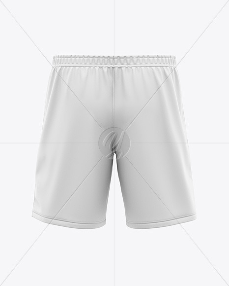 Men's Soccer Shorts Mockup - Back View