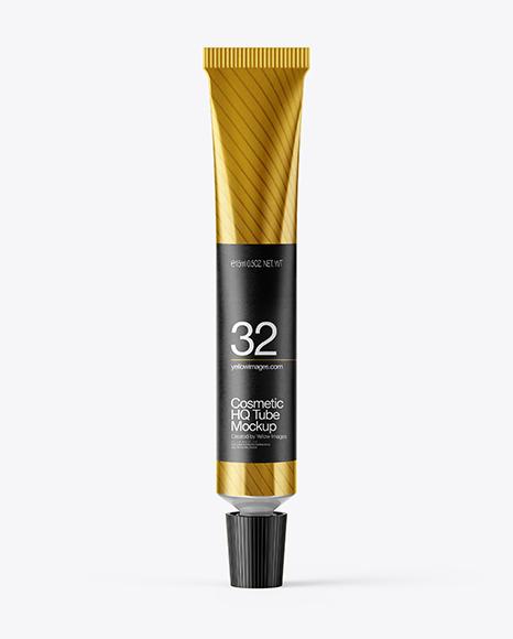 Download Metallic Cosmetic Tube PSD Mockup