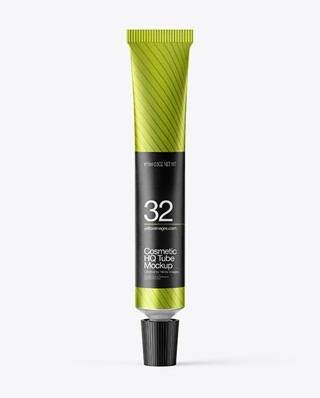 Download Matte Metallic Cosmetic Tube PSD Mockup