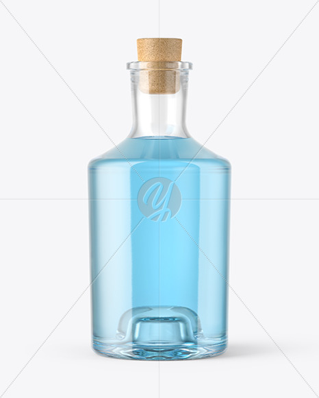 Gin Bottle with Cork Mockup