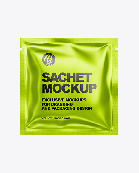 Download Metallic Sachet PSD Mockup