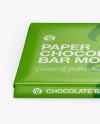 Paper Glossy Chocolate Bar Mockup - Front View (High Angle Shot)