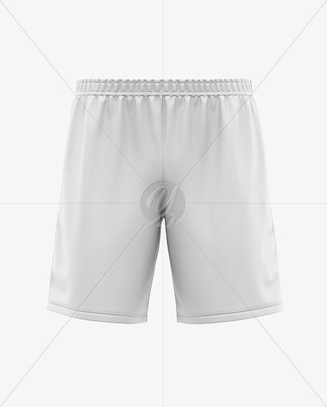 Men's Soccer Shorts Mockup - Front View