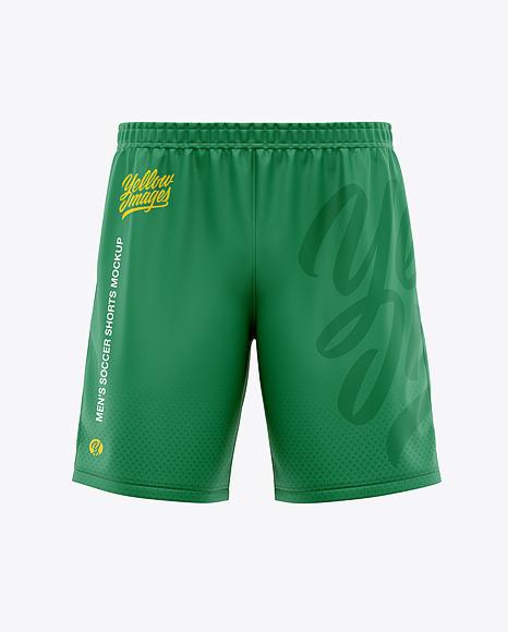 Download Mens Soccer Shorts Front View PSD Mockup