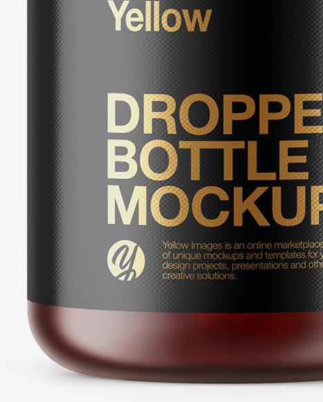 5ml Frosted Dark Amber Glass Dropper Bottle