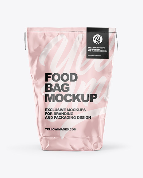 Download Food Glossy Bag PSD Mockup