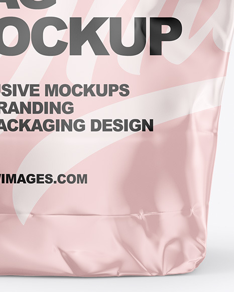 Food Glossy Bag Mockup