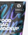 Food Matte Bag Mockup
