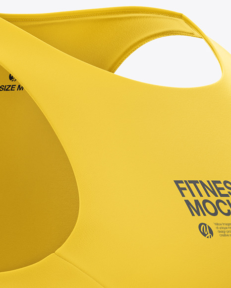 Women's Fitness Kit Mockup - Front Half Side View