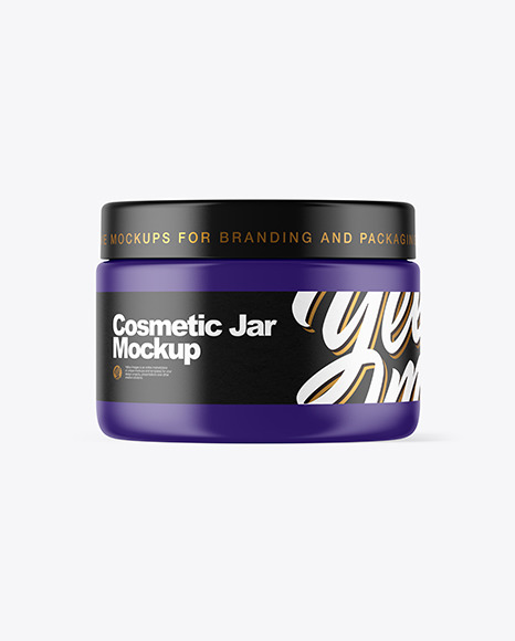 Download Matte Cosmetic Jar PSD Mockup