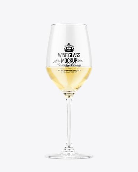 Download Glass w White Wine PSD Mockup