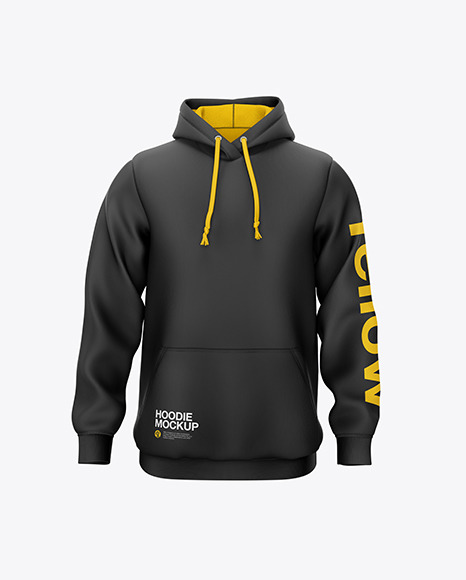 Download Hoodie Front View PSD Mockup