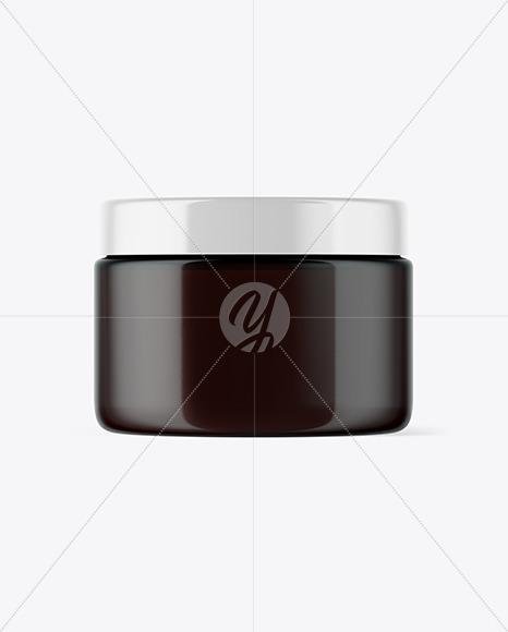 Dark Amber Cosmetic Jar Mockup