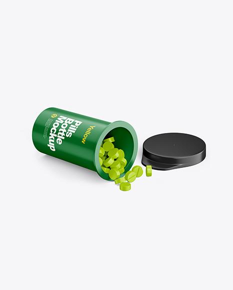Download Matte Pills Bottle PSD Mockup