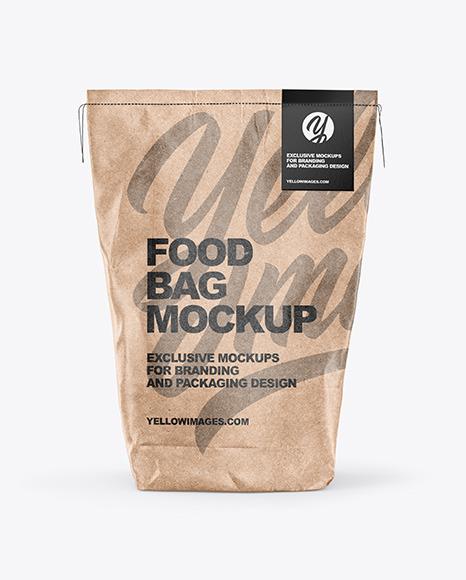 Download Food Kraft Bag PSD Mockup