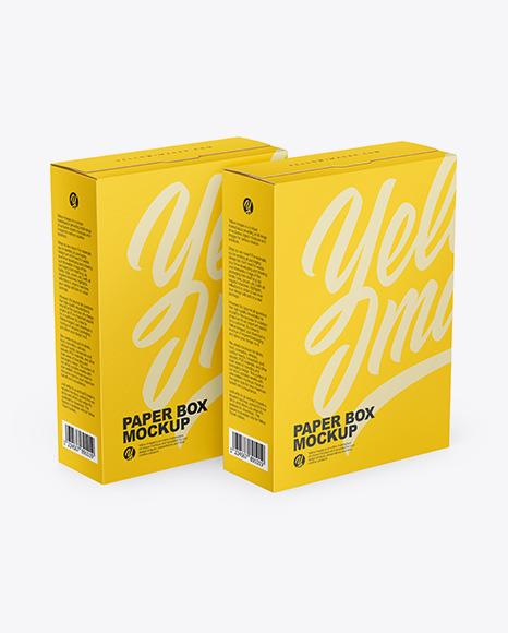 Download Two Matte Paper Boxes PSD Mockup
